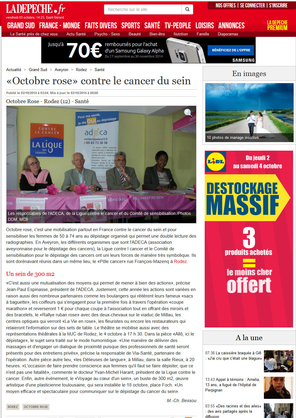 LaDepeche.fr- 02_10_2014